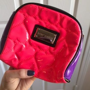 Betsy Johnson Quilted Travel/Cosmetics Bag